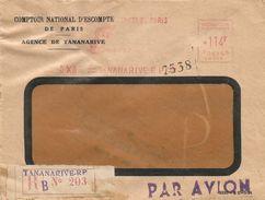 """Madagascar 1955 Tananarive Satas """"SD"""" 015 EMA Meter Registered Cover - Madagaskar (1889-1960)"""