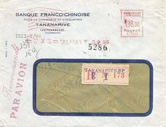 "Madagascar 1956 Tananarive Satas ""SC"" 0035 EMA Meter Registered Cover - Madagaskar (1889-1960)"