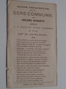 Eere-Communie Helene VERGOTE Kapel Der Zusters Apostolinen Te THIELT Op 13 Juni 1927 ( Zie Foto's ) ! - Communion