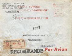 """Madagascar 1953 Tananarive Satas """"SD"""" 011 EMA Meter Registered Cover - Madagaskar (1889-1960)"""