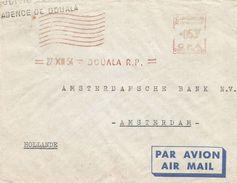 """Cameroun Cameroon 1954 Douala Satas """"SD"""" 5151 EMA Meter Cover - Kameroen (1915-1959)"""