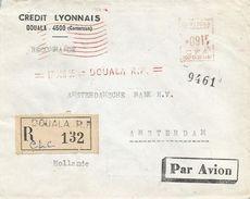 "Cameroun Cameroon 1955 Douala Satas ""SD"" 3167 EMA Meter Registered Cover - Kameroen (1915-1959)"