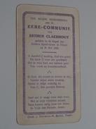 Esther CLAERHOUT Kapel Der Zusters Apostolinen Te THIELT Den 31 Mei 1926 ( Zie Foto's ) ! - Communion