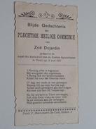 Zoë DUJARDIN Kapel Der Zusters Apostelinnen Te THIELT Den 13 Juni 1927 ( Zie Foto's ) ! - Communion