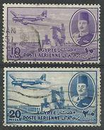 Egypte -Année 1947 -Yvert Et Tellier - N° PA34 Et PA35 Oblitérés - Poste Aérienne