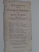 Gabrielle Van HOUTTE Kapel Der Zusters Apostelinnen Te Thielt Op 28 Mei 1923 ( Zie Foto's ) ! - Communion