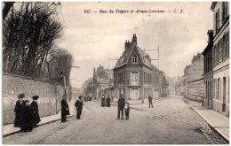 76 EU - Rues Du Tréport Et Alsace-Lorraine  (Recto/Verso) - Eu