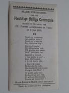 Marie-Louise & Marie-José VERSTRAETE I/d Kapel Der EE. Apostelinnen Te Thielt Op 8 Juni 1925 ( Zie Foto's ) ! - Communion