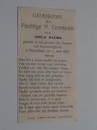 Odila DAEMS I/h Gesticht Der Zusters Van Voorzienigheid Te Herenthals Op 11 Juni 1920 ( Zie Foto's ) ! - Communion