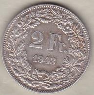 Suisse . 2 Francs 1943 . En Argent - Suisse