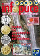 UNE REVUE INFOPUCE TOUT'M N°78 DE 2011 SUR LES TÉLÉCARTE FRANCE MONDE MÉDAILLES TOURISTIQUE TICKETS DE JEU FDJ - Telefonkarten