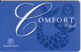 GREECE - Elounda Beach Hotel, Comfort Member Card, Unused - Hotel Keycards