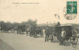 PIE 17-T-BEN-6880 : TOURS. SERIE DU GRAND-BAZAR. STATION DE VOITURES DE PLACE. FIACRES. - Tours
