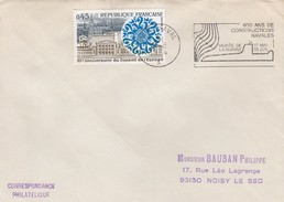 FRANCE - LETTRE 600 ANS DE CONSTRUCTIONS NAVALES - PARIS NAVAL 31.5.1974  / 1 - Maritime Post