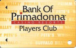 Primadonna Casino Primm, NV - BLANK Slot Card - Last Line ´21 Years Of Age´ - Casino Cards