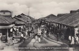 Colombo Ceylon Sri Lanka, Main Street Pettah, Native Quarter Of Commerce C1920s/30s Vintage Real Photo Postcard - Sri Lanka (Ceylon)