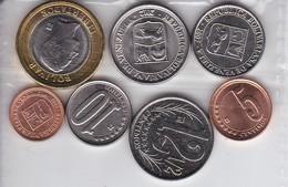 COLECCION DE 7 MONEDAS DE VENEZUELA TODAS SIN CIRCULAR (COIN) UNCIRCULATED - Venezuela