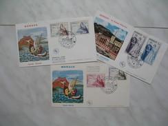 Monaco Année     1960   PA 73 à 78    3  Enveloppes - FDC