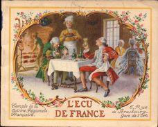 Publicite, L Ecu De France Paris, Livret De Recettes De Cuisine   (bon Etat) - Andere