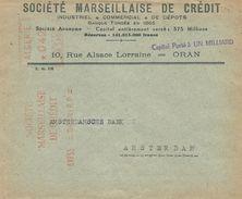 "Algerie Algeria 1955 Oran Havas ""MG"" 1359 EMA Meter Cover - Algerije (1924-1962)"