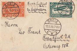 DR Brief Mif Minr.111, 112 Greiz 13.11.19 - Deutschland