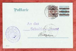 DP 10, Oberamt Reutlingen, Nach Bronnen, AK-Stempel Maegerkingen 1908 (41324) - Wuerttemberg