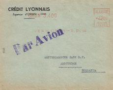 "Algerie Algeria 1956 Oran Havas ""CG"" 2382 EMA Meter Cover - Algerije (1924-1962)"