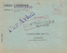 """Algerie Algeria 1951 Oran Havas """"C"""" 0015 EMA Meter Cover - Algerije (1924-1962)"""