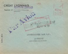"Algerie Algeria 1951 Oran Havas ""C"" 0015 EMA Meter Cover - Brieven En Documenten"
