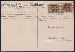 DR Karte Mef Minr.2x 299 Chemnitz 9.10.23 - Deutschland
