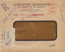 """Algerie Algeria 1956 Alger-Strasbourg Satas """"SC"""" 0077 EMA Meter Registered Cover - Algerije (1924-1962)"""