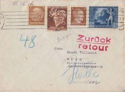 DR Brief Mif Minr.513,768,782,820 Halle 7.12.42 Gel. Nach Wien Retour Ansehen !!!!!!!!!!!!! - Briefe U. Dokumente