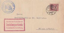 DR Zustellurkunde EF Minr.D112 Jerichow 13.10.27 - Dienstpost