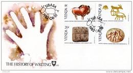 Venda - 1982 History Of Writing FDC # SG 59-62 , Mi 58-61 - Archeologia