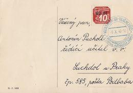 Böhmen Und Mähren Karte EF Minr.51 Wallach-Meseritsch 6.10.40 - Böhmen Und Mähren