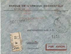 """Gabon AEF 1956 Libreville Satas """"SD"""" 3162 EMA Meter Registered Cover - Brieven En Documenten"""