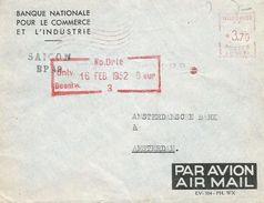 "Vietnam Indochine 1952 Saigon Satas ""SC"" 3010 EMA Meter Cover - Vietnam"