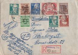 SBZ R-Brief Mif Minr.187,203,207,214,2x 215,216,229 Altenburg 25.1.49 - Sowjetische Zone (SBZ)