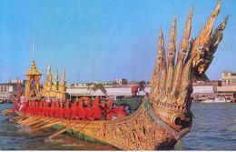THAILAND - COLOUR PICTURE POST CARD - THAI SILPA - THE ROYAL BARGE ANANTANAKARU, BANGKOK - TRAVEL / TOURISM - Thailand
