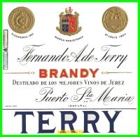 ETIQUETA  BODEGAS  FERNANDO A. De TERRY   EL PUERTO DE SANTA MARIA - Etiquetas
