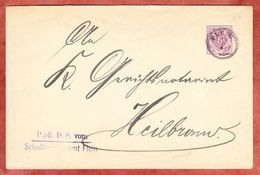 DU 4, Schultheissenamt Flein, Nach Heilbronn, AK-Stempel 1889 (41338) - Wurttemberg