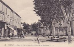 (18)  PERTUIS - Place Du 4 Sepembre  Et Cours De La République - Pertuis