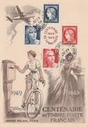 - CENTENAIRE DU Timbre-Poste Français 1849-1949 - 004 - Documents Of Postal Services