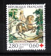 Francia   -   1995.  Arazzo ; Cavaliere. Red Cross. Tapestry; Horseman - Croce Rossa