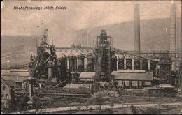 ! Alte Ansichtskarte Hochofenanlage Hütte Friede, Industrie - Lothringen