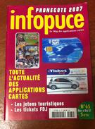 UNE REVUE INFOPUCE TOUT'M N°65 DE 2007 SUR LES TÉLÉCARTE FRANCE MONDE MÉDAILLES TOURISTIQUE TICKET SURF - Phonecards
