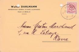 """Campenhout-Sas ,(Kampenhout),carte Publicité ,Walter Dahlmann """"villa Kisangani"""" - Kampenhout"""
