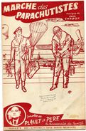Marche Des Parachutistes - Marche Des Footballeurs - Plaut Le Père/Paul Chabot - Voir Scan - Partituras