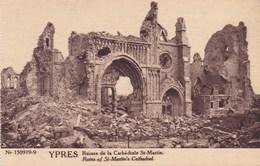 Ieper, Ypres, Ruines, Ruins, Ruines De La Cathédrale St Martin (pk38242) - Ieper