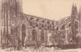 Ieper, Ypres, Ruines, Ruins, Côté Sud De La Cathédrale Saint Martin Apres Le Bombardement (pk38249) - Ieper